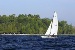 Sailing Lake Champlain off Valcour Island Royalty Free Stock Photo