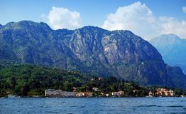 Sailing on Lake Como. Lombardy, Italy royalty free stock images
