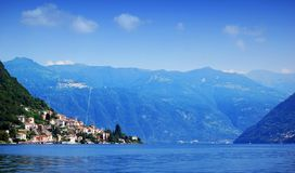 Sailing on Lake Como. Lombardy, Italy stock images