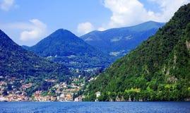 Sailing on Lake Como. Lombardy, Italy royalty free stock photography