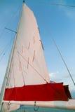 Sailing on the lake Stock Image