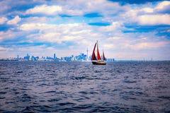 Sailing. In Lake Ontario Toronto stock photos