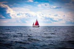 Sailing. In Lake Ontario Toronto royalty free stock photos