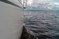 Sailing on the lake. Polosh lake in Masuria stock photos