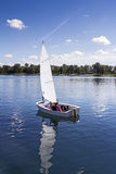 Sailing on the lake Stock Photo