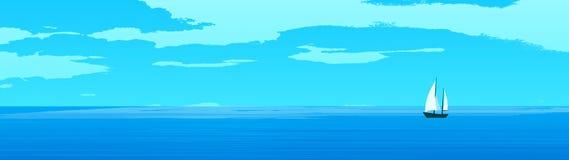 Sailing landscape Stock Images