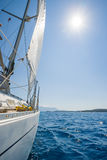 Sailing in Lefkas island Royalty Free Stock Photography
