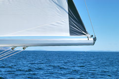 Sailing lightly. Sailing slowly on a sunny day Stock Image