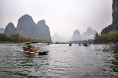Sailing on the Lijiang Rever Royalty Free Stock Image