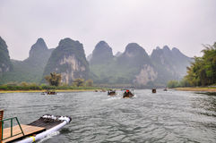 Sailing on the Lijiang Rever Royalty Free Stock Photo