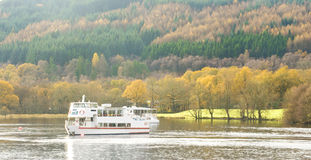 Sailing on Loch Lomond in Autumn. Stock Images