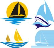 Sailing logo Royalty Free Stock Image