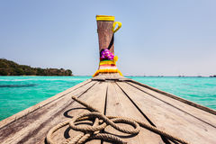 Sailing in Long tail boat Stock Photo