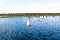 Sailing a Loosdrechtse Plassen Netherlands Stock Images