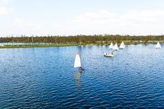 Sailing a Loosdrechtse Plassen Netherlands Stock Images