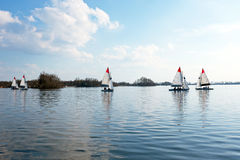 Sailing on the Loosdrechtse Plassen in Netherlands Stock Images