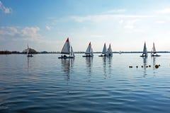 Sailing on the Loosdrechtse plassen in Netherlands Stock Image