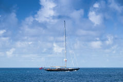 Sailing luxury yacht Royalty Free Stock Photography
