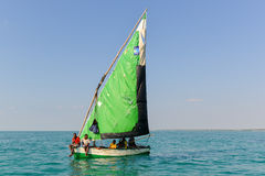 Sailing, Magaruque Island - Mozambique Stock Photo