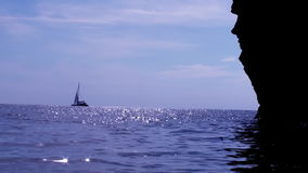 Sailing Magic Ship In The Sparkling Sea