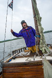 Sailing man Royalty Free Stock Photos