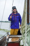 Sailing man Stock Photo