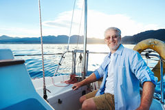 Sailing man portrait Stock Photography