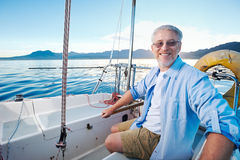 Sailing man portrait Royalty Free Stock Photos