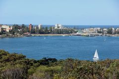 Sailing Manly Cove Royalty Free Stock Photography