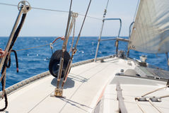 Sailing in Mare Ligure Royalty Free Stock Images