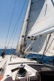 Sailing in Mare Ligure. Shot taken while I was sailing near Genova, Italy Stock Photos