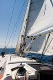 Sailing in Mare Ligure Stock Photos