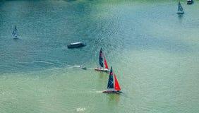 Sailing/Marina rezerwuaru /Lunar nowy rok Obrazy Royalty Free