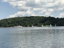 Sailing. At marsh lake park in Pennsylvania Royalty Free Stock Photos