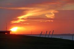 Sailing masts at sunset Royalty Free Stock Photo