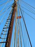 Sailing masts of wooden tallships Royalty Free Stock Photos