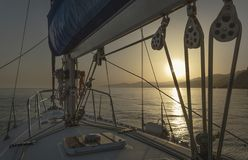 Sailing in the Mediterranean stock photography