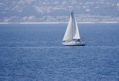 Sailing on the mediterranean sea Stock Photo