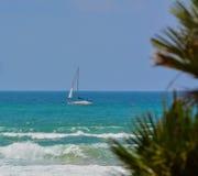 Sailing on Mediterranean Sea in Ashkelon, Israel Stock Images