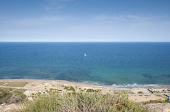 Sailing in the Mediterranean Sea Stock Image