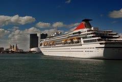 Sailing into Miami Stock Photo