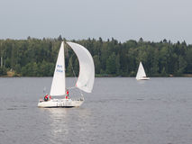 Sailing, Moscow region Royalty Free Stock Images