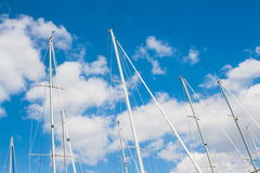 Sailing must and clouds Stock Photography
