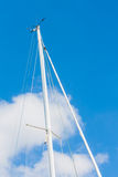 Sailing must and clouds Royalty Free Stock Photo