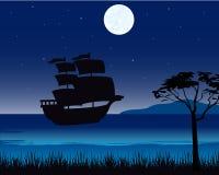 Sailing nave seaborne Stock Image