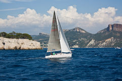 Sailing near Marseille Royalty Free Stock Image