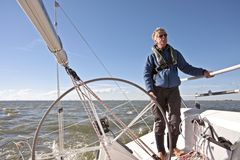 Sailing in the Netherlands. Sailing on the IJsselmeer in the Netherlands Royalty Free Stock Photography