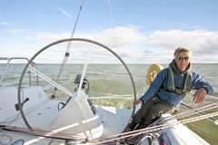 Sailing in the Netherlands. Sailing on the IJsselmeer in the Netherlands Royalty Free Stock Photos