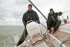 Sailing in the Netherlands Royalty Free Stock Images