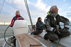 Sailing in the Netherlands Royalty Free Stock Image